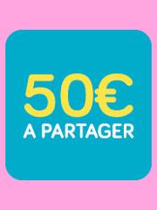 50 euros à partager