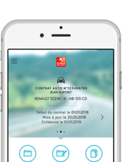 Direct Assurance Application mobile - Vos contrats en un coup d'oeil