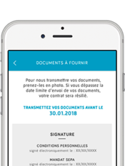 Direct Assurance Application mobile - Envoyez vos documents