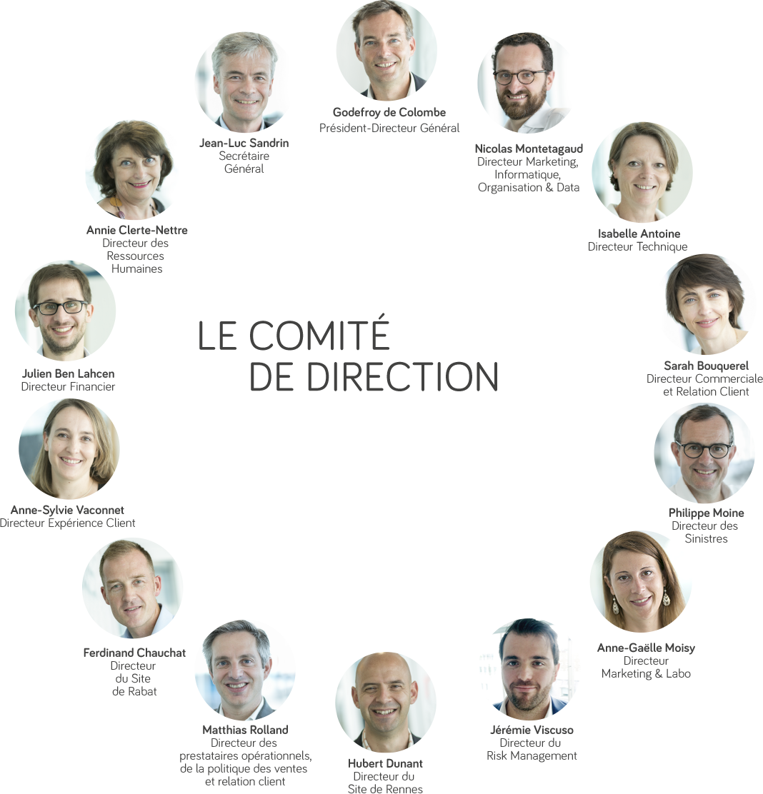 Le comité de direction de Direct Assurance