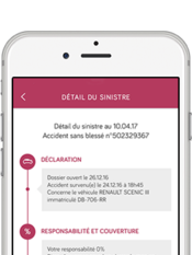 Direct Assurance Application mobile - suivi de sinistre